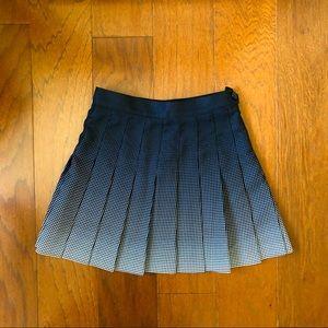 American Apparel Black White Pleated Tennis Skirt